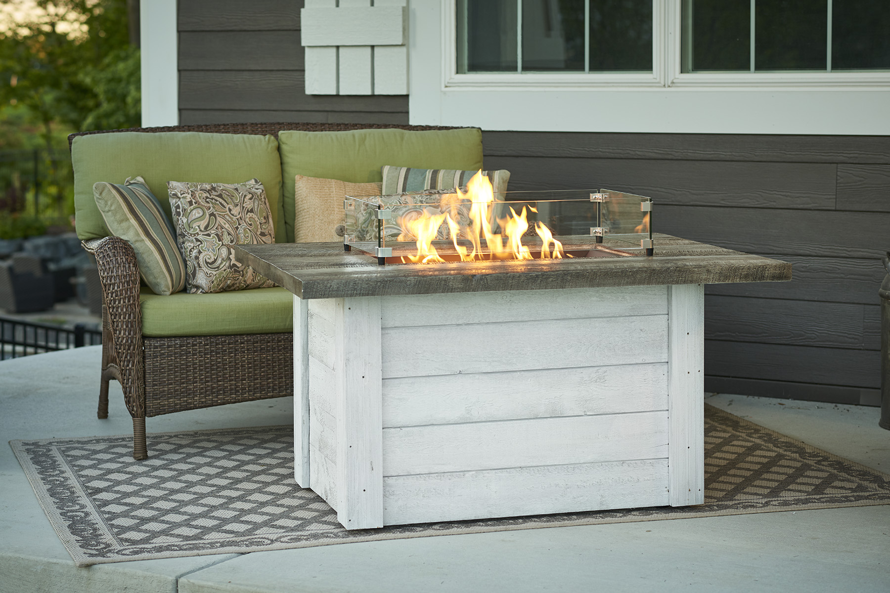 Outdoor Great Room Rectangular Fire Tables Protech